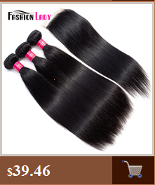 Fashion Lady Pre-Colored Ombre Brazilian Hair 3 Bundles With Lace Closure 1B/ 99J Straight Weave Human Hair Bundle Pack Non-Remy