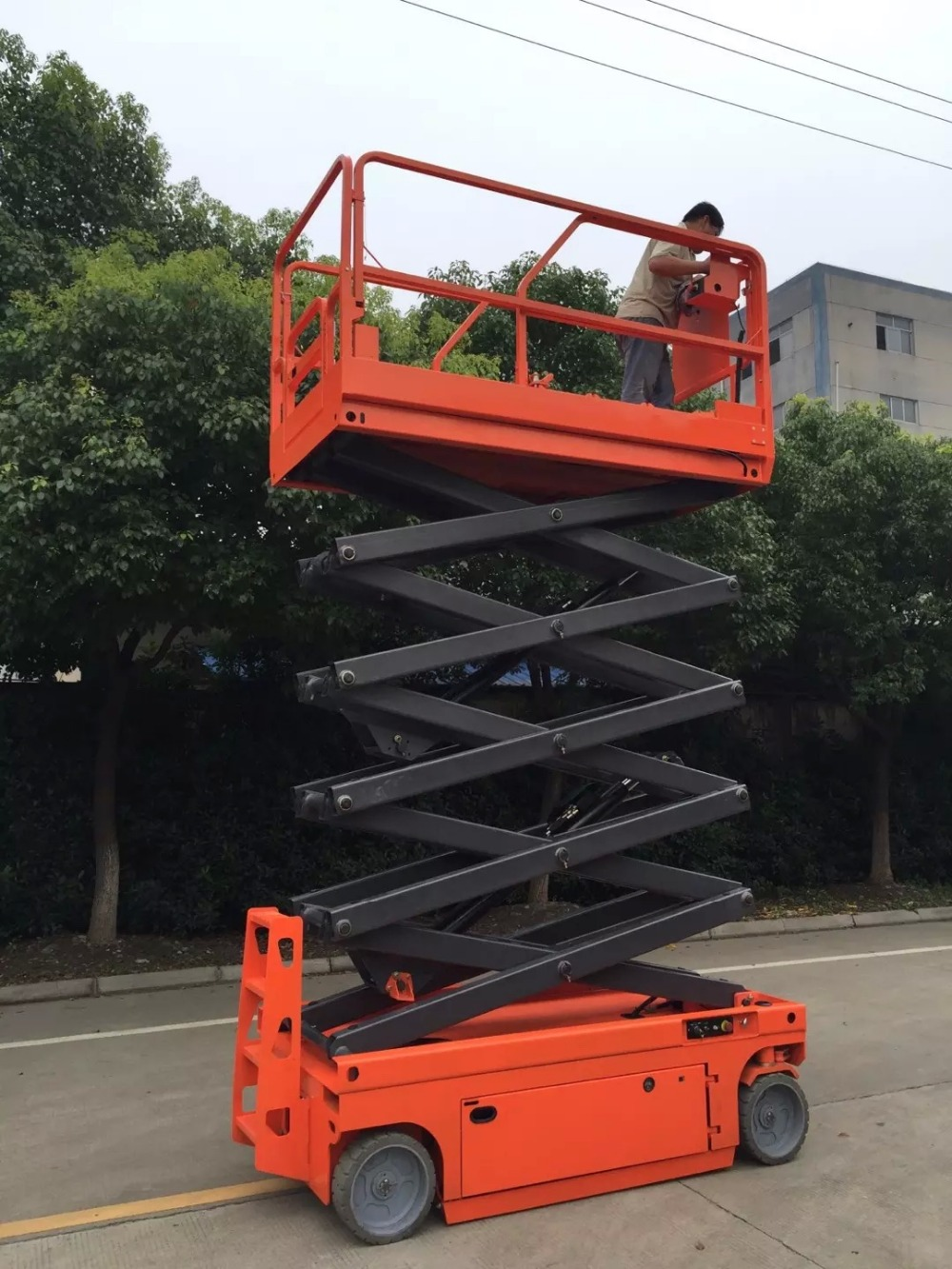 Full Electric Self Propelled Scissor Lift  Table Platform