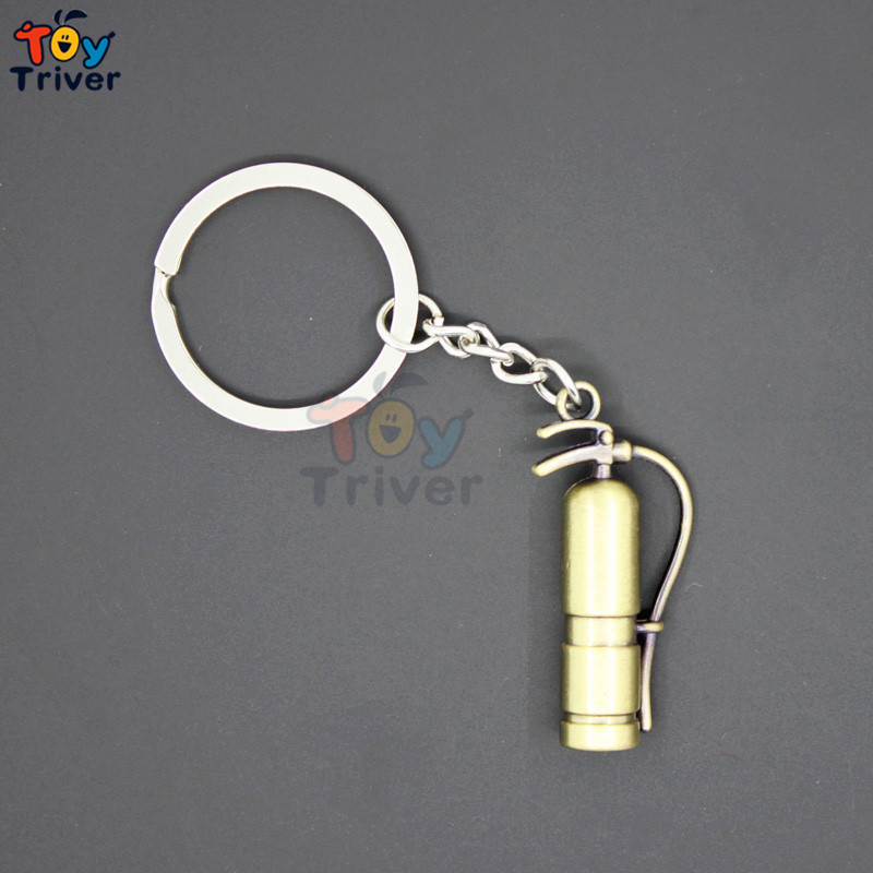 Wholesale Creative Simulation Fire Extinguisher Toys Model KeyRing Pendant Party Gift Activity Prizes Triver