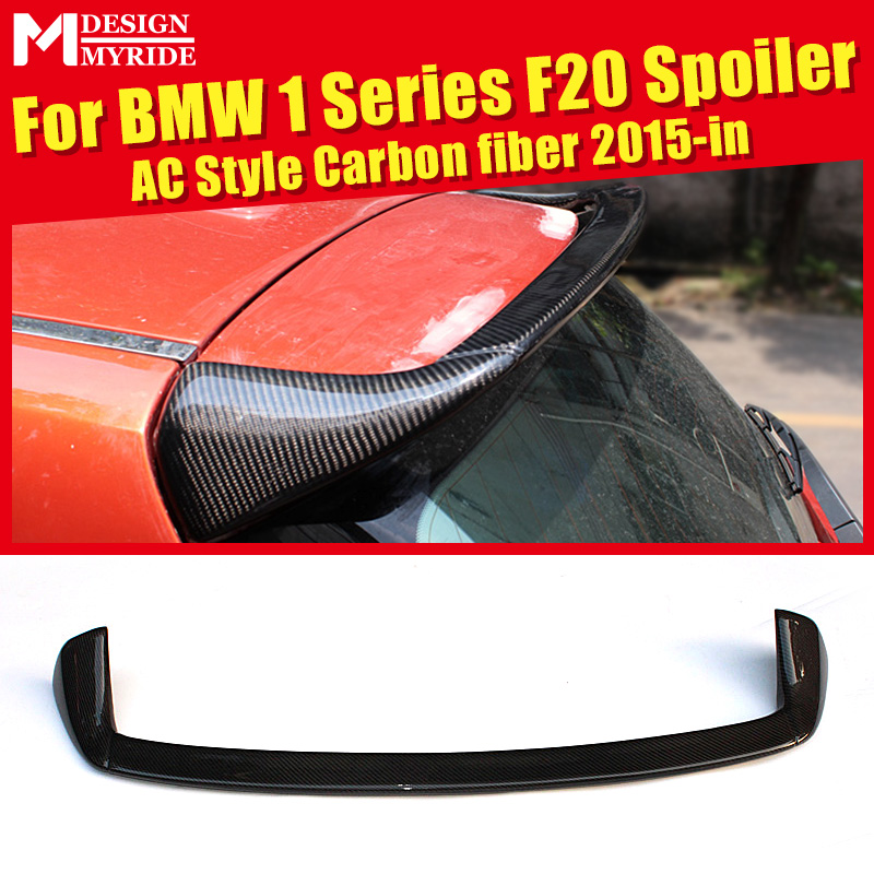 Para BMW 118i 125i 135i 135i F20 AC-Estilo Fibra De Carbono Spoiler Traseiro Tronco Cauda Car Racing Decoração Spoyler acessórios de 2015-em