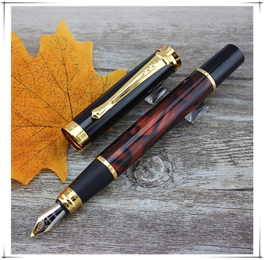 JINHAO 500 Red ice marble and gold 1.0mm medium nib Fountain Pen Stationery School&Office Supplies Writing Pen student gifts