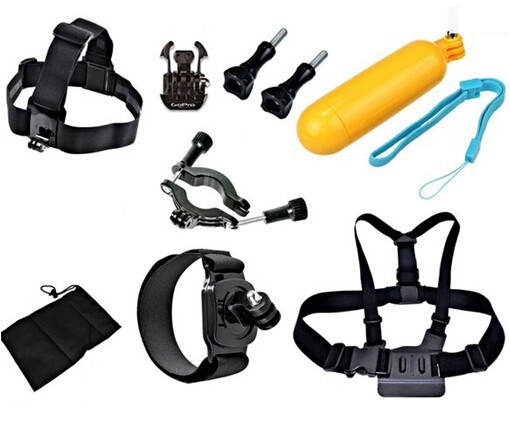 head chest strap harness Water Floaty bobber motorcycle handlebar wrist strap bag for gopro xiaomi yi SJCAM Accessories