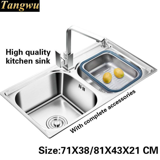 Tangwu Food grade 304 stainless steel thickening double groove ...
