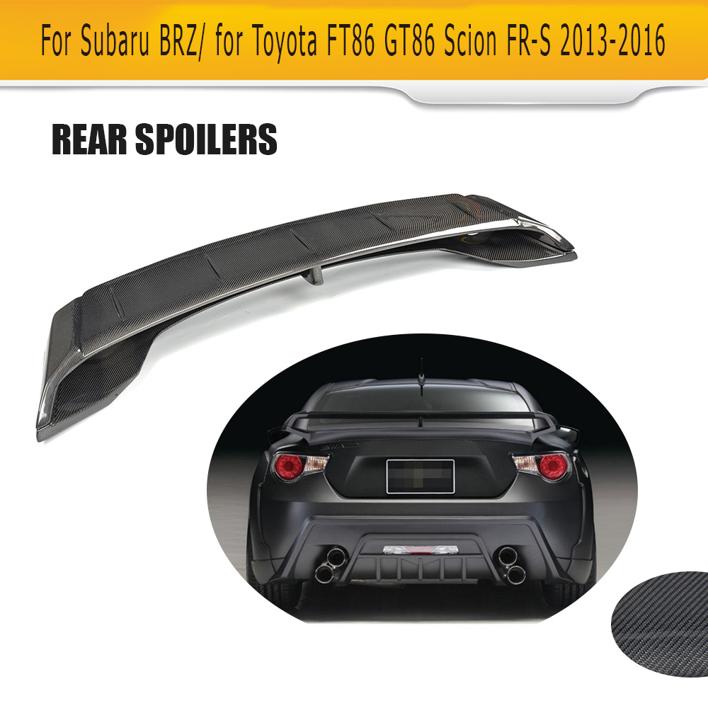 Online buy wholesale spoiler subaru from china spoiler subaru carbon fiber car trunk spoiler lip wing for subaru brz for toyota ft86 gt86 scion fr vanachro Image collections