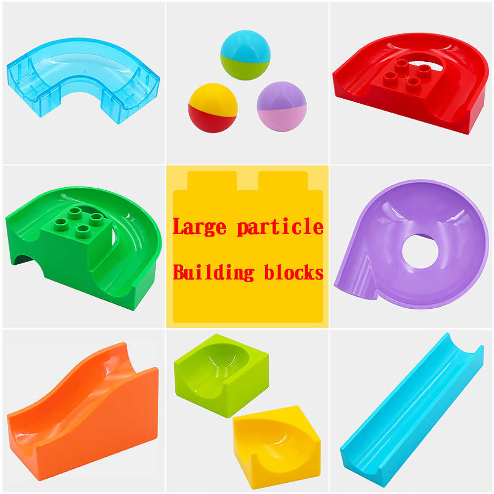 Big Large Particle Building Blocks Slide Block Accessories Educational Toys For Kid Children Compatible With legoed Duplos brick