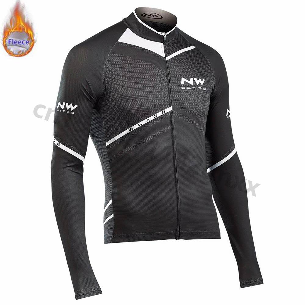NW Northwave Winter Thermal Fleece Cycling Jerseys Long Sleeve Ropa Ciclismo MTB Bicycle Racing Bike Clothes Cycling Clothing in Cycling Jerseys from Sports Entertainment