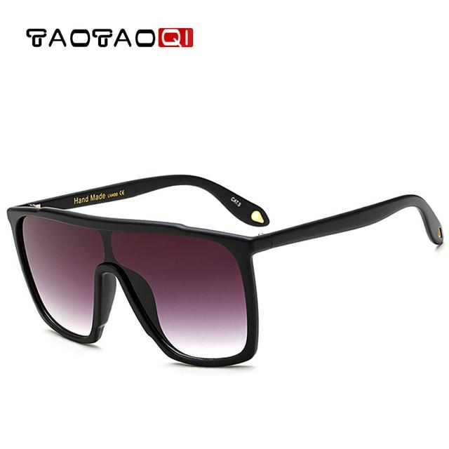 e099abf99c4cb TAOTAOQI Luxury Women Brand Flat Top Frame Sunglasses Women Fashion  Designer New Plastic Sun Glasses Men