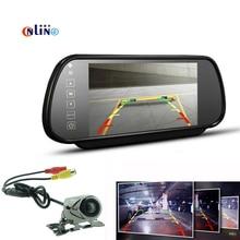 Парковочные системы Системы 2 in1/цифровой 7 дюймов tft ЖК-дисплей зеркало авто парковка Мониторы + 170 градусов мини-автомобиль заднего вида Камера