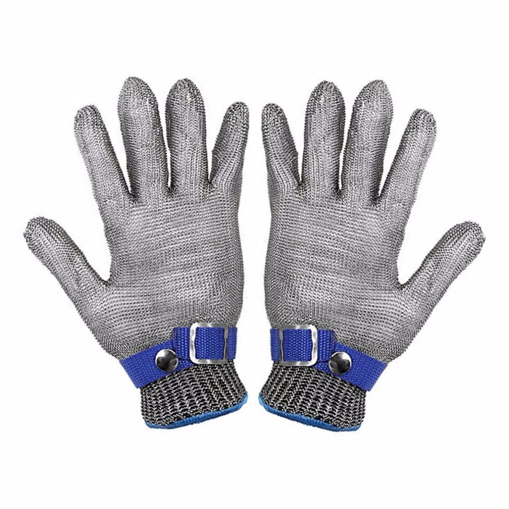 Breathable Comfortable Safety Cut Proof Stab Resistant Stainless Steel Metal Mesh Gloves Anti-cutting Work Gloves maritime safety