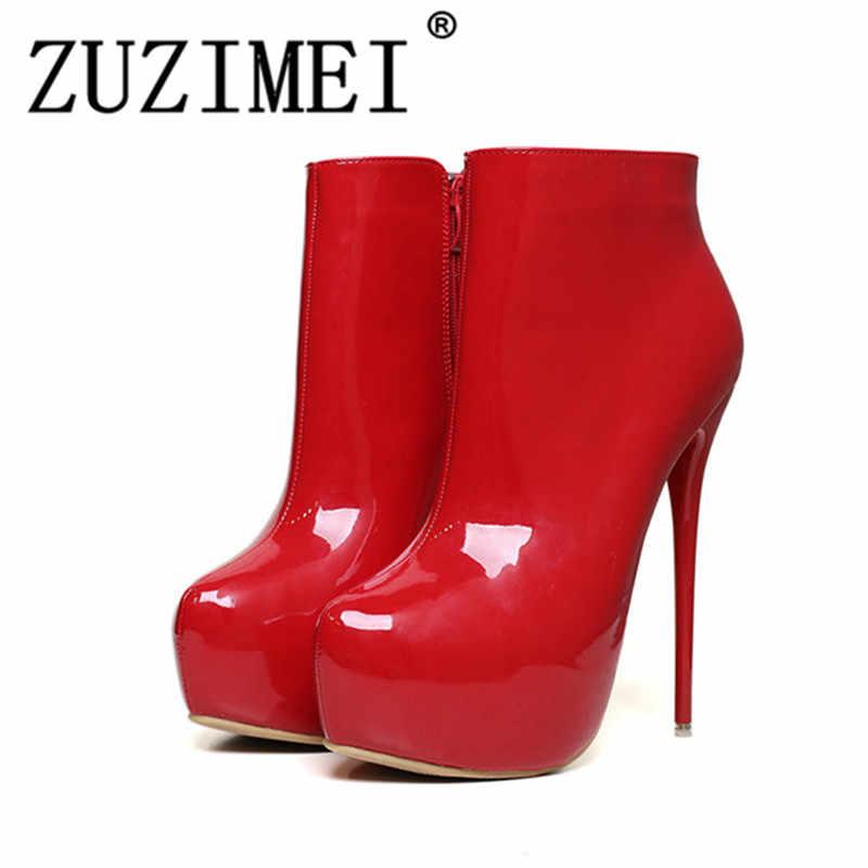 f645f650e Модные женские туфли-лодочки туфли на высокой платформе и супервысоком  каблуке волнующие закрытые туфли на