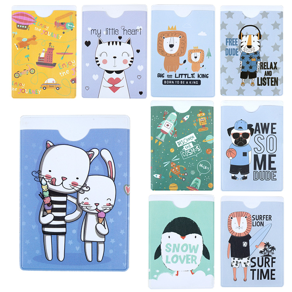 Women Buiness Card Case Credit Card Holder Student Cute Cartoon ID Cards Wallet Passport Business Protector Gift LY-1001 animal pvc card holder credit student cute women id business bancaire cards bag wallet passport card holder protector