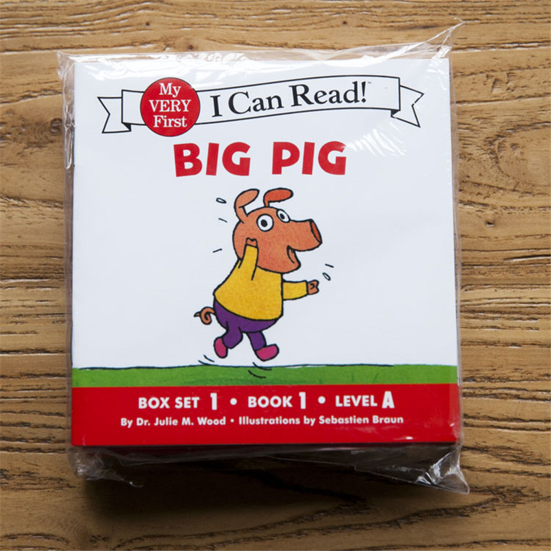 12books/set I Can Read Phonics BIG PIG My Very First Picture Book English Book For Children Infant Kids Present Pocket Storybook