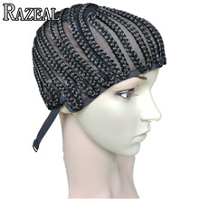 Razeal Hair Products Cornrow Wig Caps For Making Wigs With Adjustable Strap Braided Cap For Weave Wig Women Hairnets Easycap
