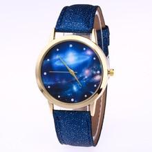 Fashion Casual Women's Quartz Wristwatch Leather Women's Bracelet Watches Lover's Watch Reloj Mujer Universe Stars Creative Gift