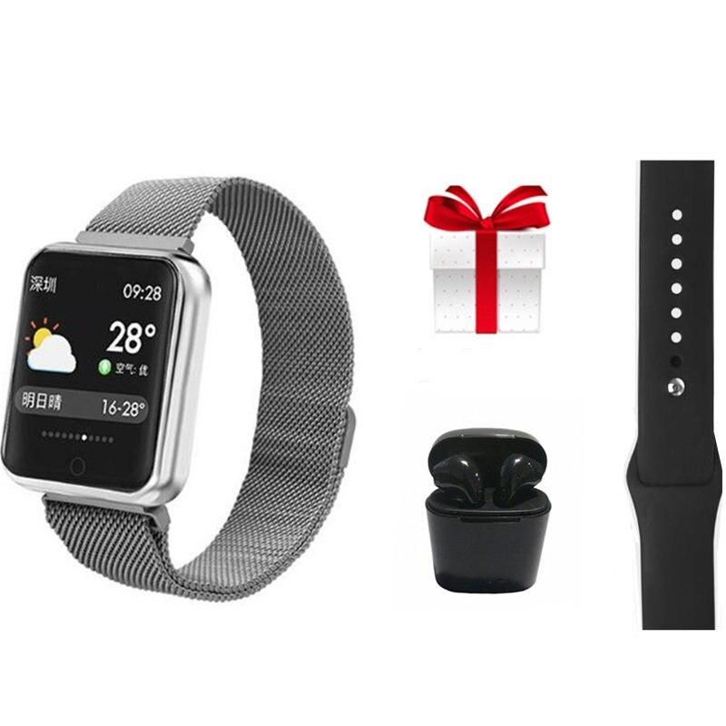 IP68 Waterproof Smart Wristband Watch Men Women Support Call Message Reminder Muliti Sports Mode Health Tracker