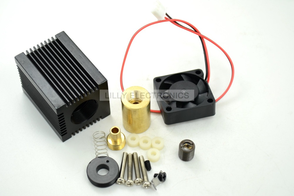 レーザーモジュールハウジング33 × 33 × 50ミリメートルのための5.6ミリメートルto 18 ld w/レッドガラスレンズ&ファン -