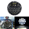 For Harley Fatboy Road King Softail Motorcycle 7 Inch Motorcycle Chrome Black H4 Projector High Low Beam LED Headlight Headlamp
