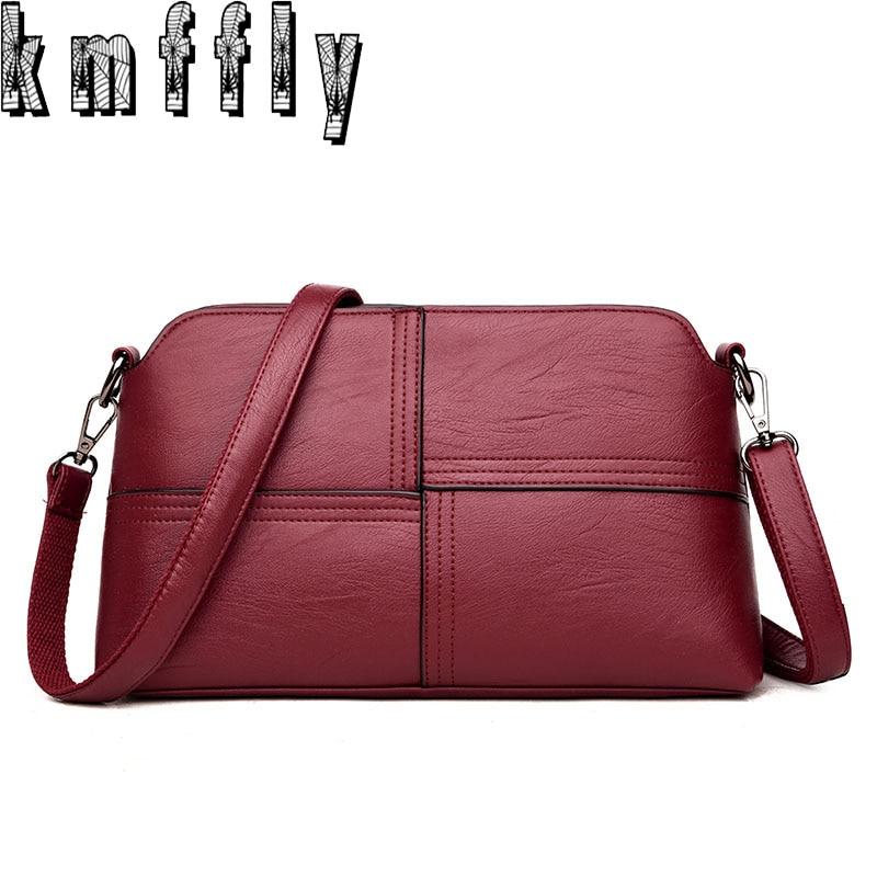 ea61e01aadb4 Aliexpress.com   Buy KMFFLY 2018 new Fashion Sheepskin Leather Designer  Handbags Women Bag High Quality Ladies Bags Famous Shoulder Bag Sac Feminina  from ...