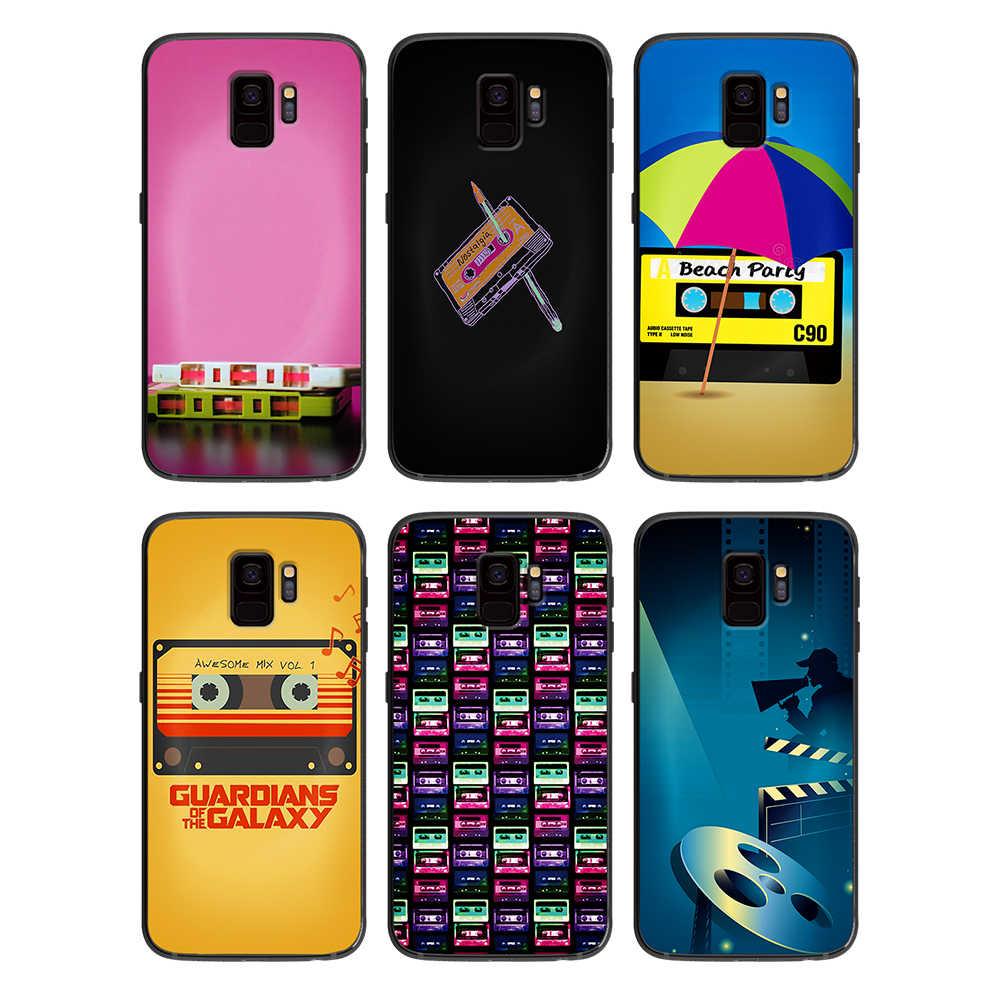 RETRO KLASSISCHE KASSETTE band für Samsung Galaxy A5 A6 A7 A8 A9 2017 Telefon Abdeckung Plus M10 M20 M30 silikon telefon fällen