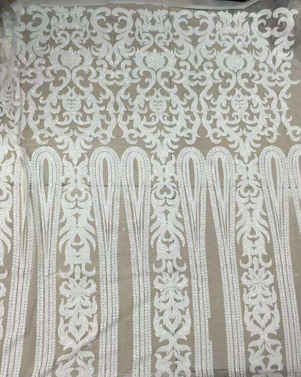 Nizza cercando della piuma del ricamo di tulle tessuto di pizzo di maglia Cyndi 10.1741 con buona qualità per il vestito da partito-in Pizzo da Casa e giardino su  Gruppo 1