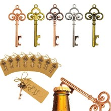 60pcs/set Rose Gold Wedding Party Bottle Opener Keychain with Tag Paper for Guests Souvenirs Decoration 5 Colors