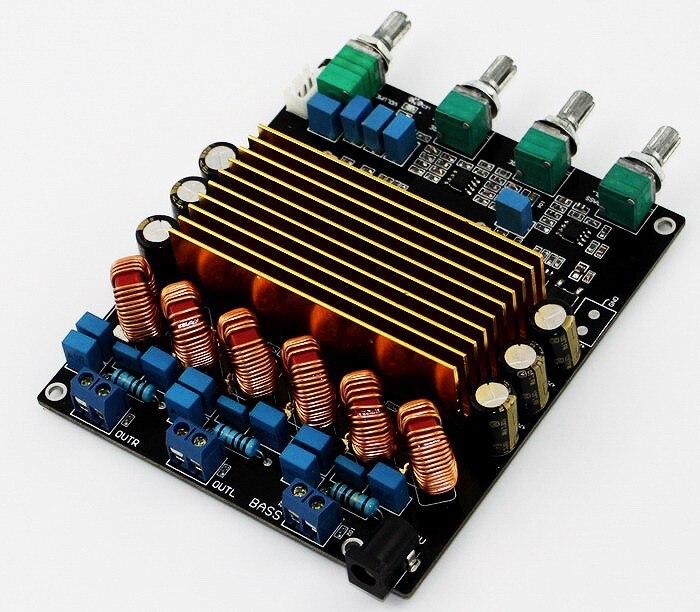 Nouveau TC2001 STA508 2.1 classe D HIFI AUDIO carte amplificateur numérique 160 W + 80 W + 80 W