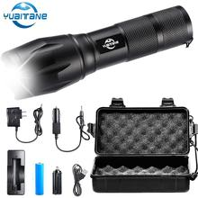 6000 Lumens Flashlight CREE XM-L T6 Torch High Power Adjustable LED Flashlight +DC/Car Charger+18650 Battery+Holster Holder все цены