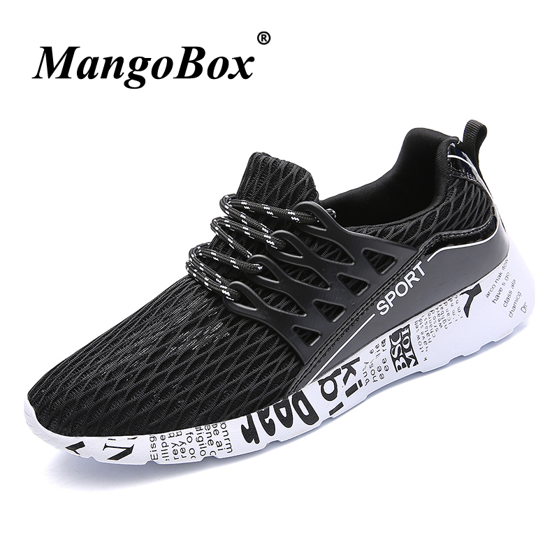 Man Running Shoes Black White Man Sneakers for Sport Breathable Jogging Shoes Men Lightweight Anti-slip Outdoor Footwear