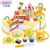 Beiens 55Pcs Kitchen Toys Garfield Pretend Play Cutting Birthday Cake Food Toy Tableware Cocina De Juguete