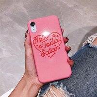 100 шт. красный сердце любовь чехол для iPhone х чехол для iPhone 6 6S 7 8 плюс Модный мягкий из высокотемпературного полиуретана силиконовые чехлы для