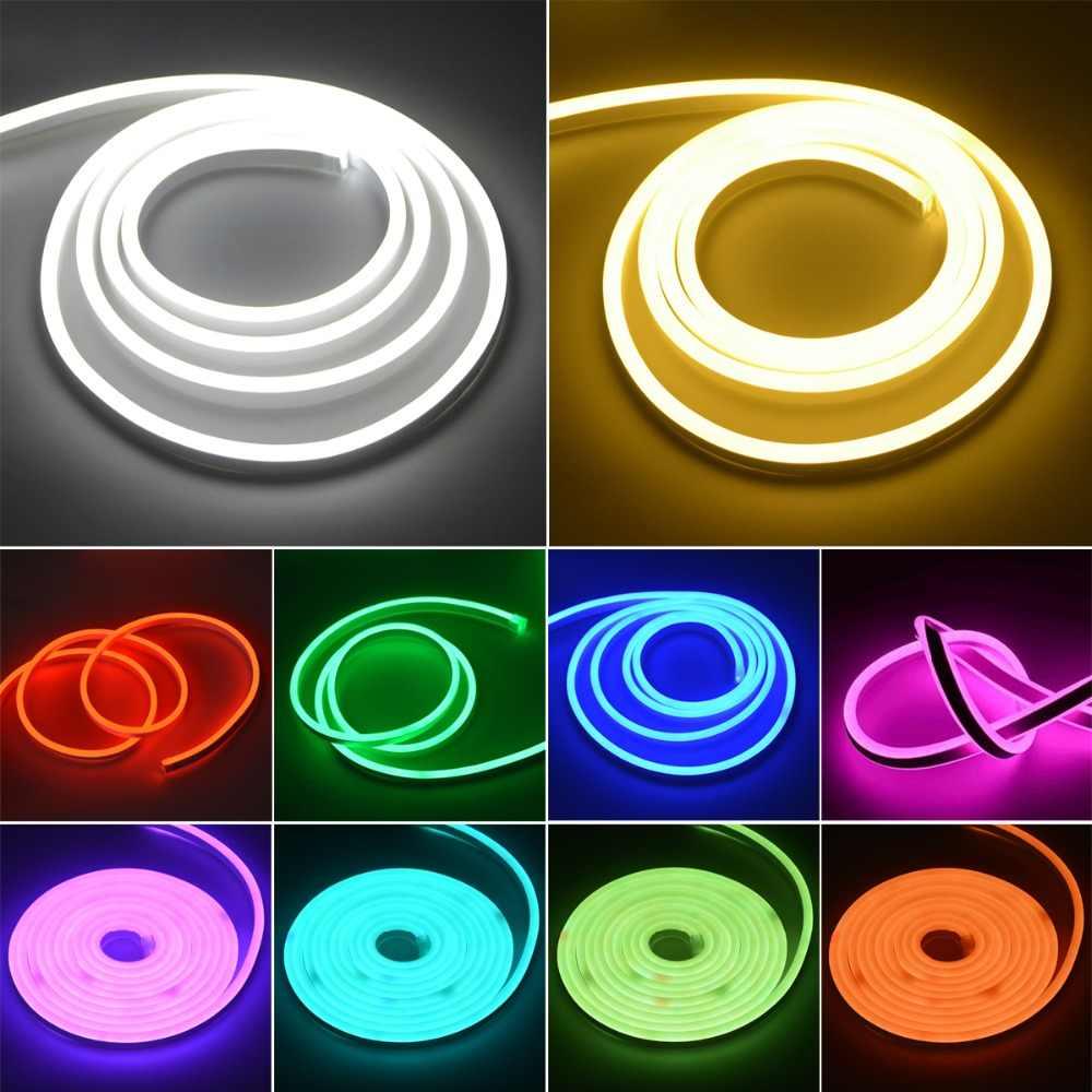 220V Гибкий Мягкий RGB светодиодный неоновый свет лампы Радужный светодиодный неоновая вывеска для организаций и магазинов лампы лента для детской комнаты Рождественский праздник домашний декор для сада