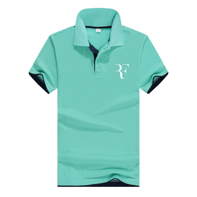 summer fashion Roger Federer perfect logo printed   polo   RF New men high quality social   Polo   shirts   Polo   Shirt for women and mens'