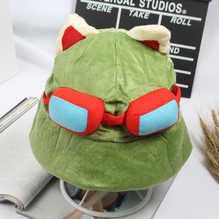 Hot sale 2017 kawaii Swift Scout Timor Teemos Hat Men Women LOL Merchandise side  Cosplay Party Warm Hat Army Green Cap ...
