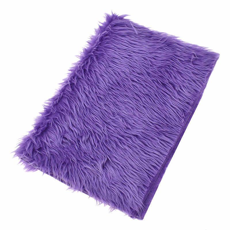 O aşk A3 yapay peluş sahte tilki kürk kumaş 42x30mm için kadın çanta uzun kadife kumaş diy el yapımı dikiş malzemeleri