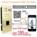 Wireless WIFI IP Video Door Phone via Smartphone Control,remote door access by you iphone,andriod smartphone