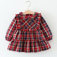 Baby Girls Dress Winter Infant Plaid Pattern Clothing Kids Party Dresses 2017 Toddler Sports Dress Children