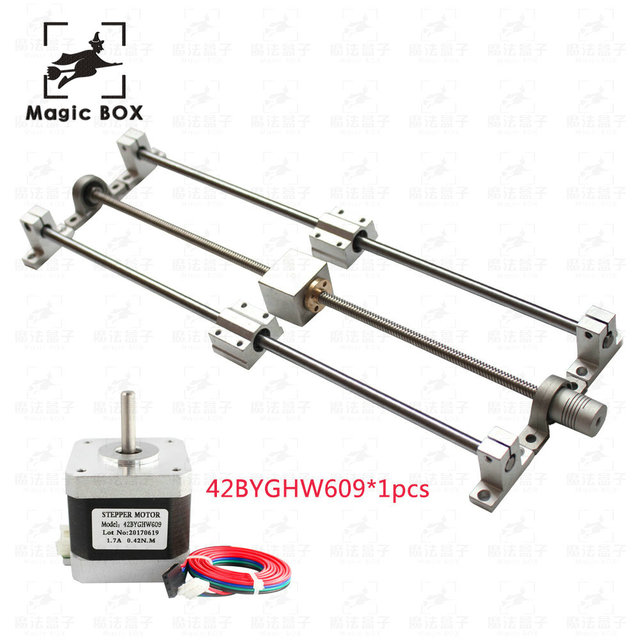3d Guide rail parts T8 Lead screw Trapezoidal 500mm 8mm + Anti-Backlash Nut  + KP08 or KFL08 bearing Bracket +Flexible Coupling