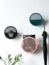 Nordic Morandi Iron Circular Shelf Wall Hanging Decorative Storage Holder Living Room Background Magazine Collection