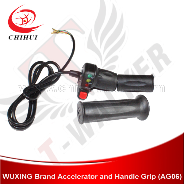Scooter Grips WUXING 36V/48V/60V Ebike Twist Throttle Grips With Turbo Switch/Battery Indicator (Scooter Parts&Accessories)