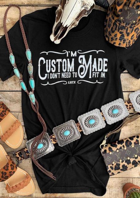 Custom Made O-Neck Graphic T-Shirt