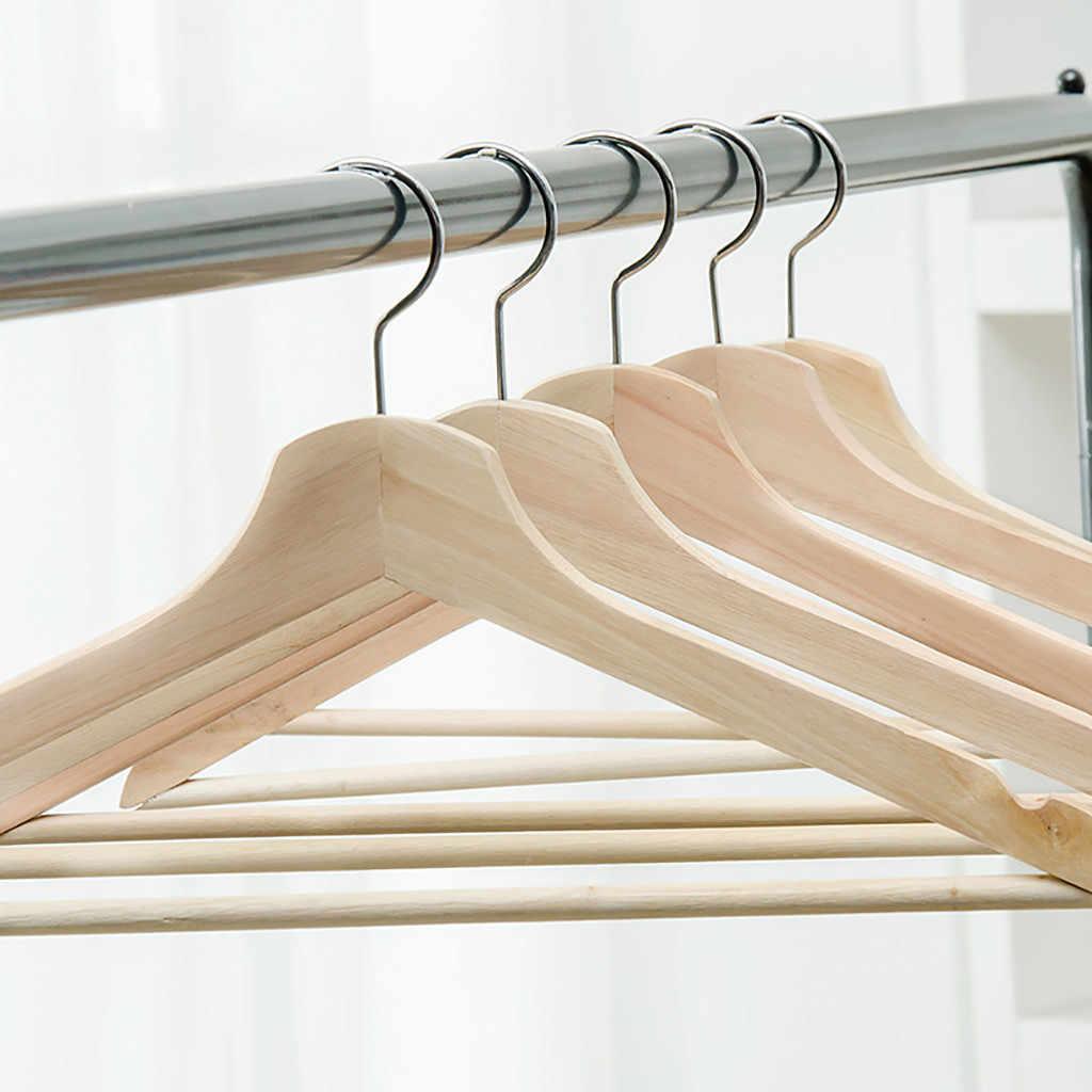 3PCS Wooden Pant Hanger Cabinet Suit Skirt Clothes Wood Hangers Set Home