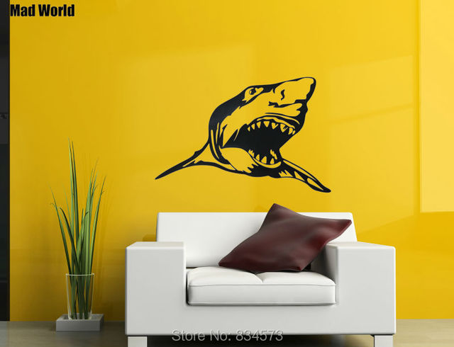 Aliexpress.com : Buy Mad World Animal Scary Shark Ocean Silhouette ...
