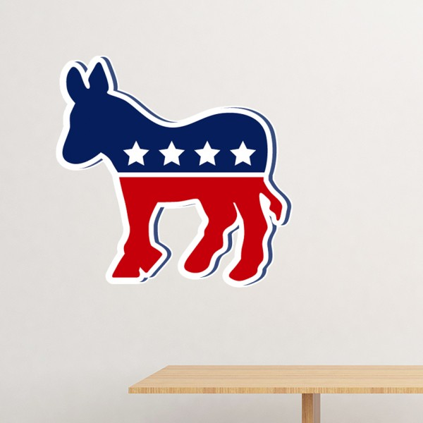 America The United States Donkey Emblem <font><b>Democratic</b></font> Party Removable Wall <font><b>Sticker</b></font> Art Decals Mural DIY Wallpaper for Room Decal image