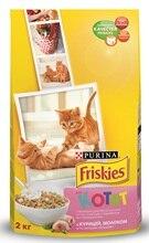 Сухой корм Friskies для котят с курицей, молоком и полезными овощами, Пакет, 2 кг