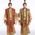 Antiguo al por mayor de prendas de vestir traje de los hombres traje Han Dinastía Tang ropa oficial con un sombrero de Halloween costume Envío gratuito