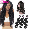 360 Lace Frontal with Bundle Body Wave with Frontal Brazilian Virgin Hair Body Wave 3 Bundles with 360 Frontal Virgin Hair Weave