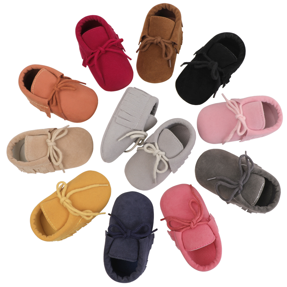 Soft Sole Suede Baby Shoes Unisex Toddler Moccasins Infant Baby Booties Kids Footwear Anti-Slip Bebes First Walkers