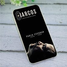 Narcos Plata Caso Tampa Do Telefone para o iphone XR Xs Max X 6 8 6S Plus 7 5S 5 SE backshell(China)