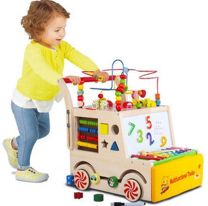 Многофункциональный дети Тачку ребенка малыша ходунки помощь шагом корзину детских игрушек