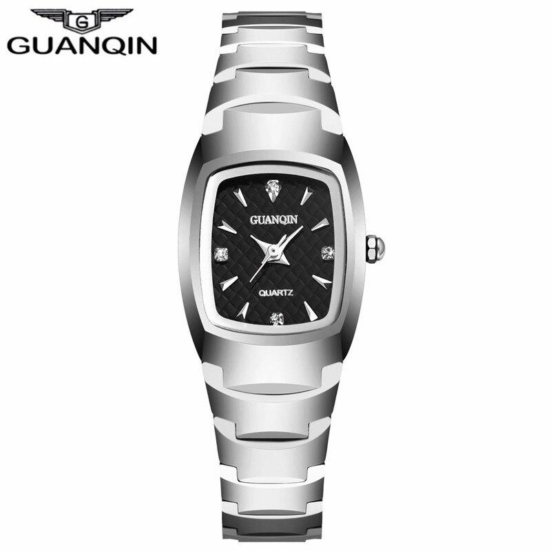 ФОТО GUANQIN GQ30005 Women's Oval Quartz Watch Ladies Series Jewelry Luxury Tungsten Steel Business Bracelet Watches felogio feminino